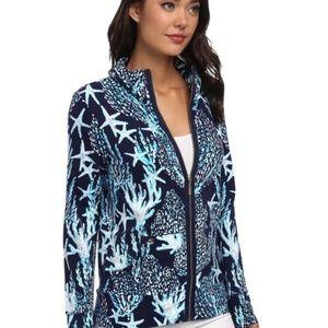 Lilly Pulitzer Leona Good Reef Full Zip Jacket